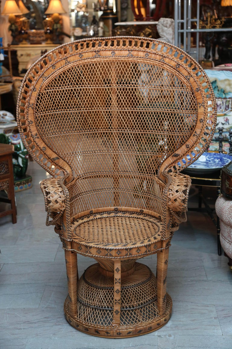 "Hand Decorated Mid-Century ""Peacock"" Chair 2"