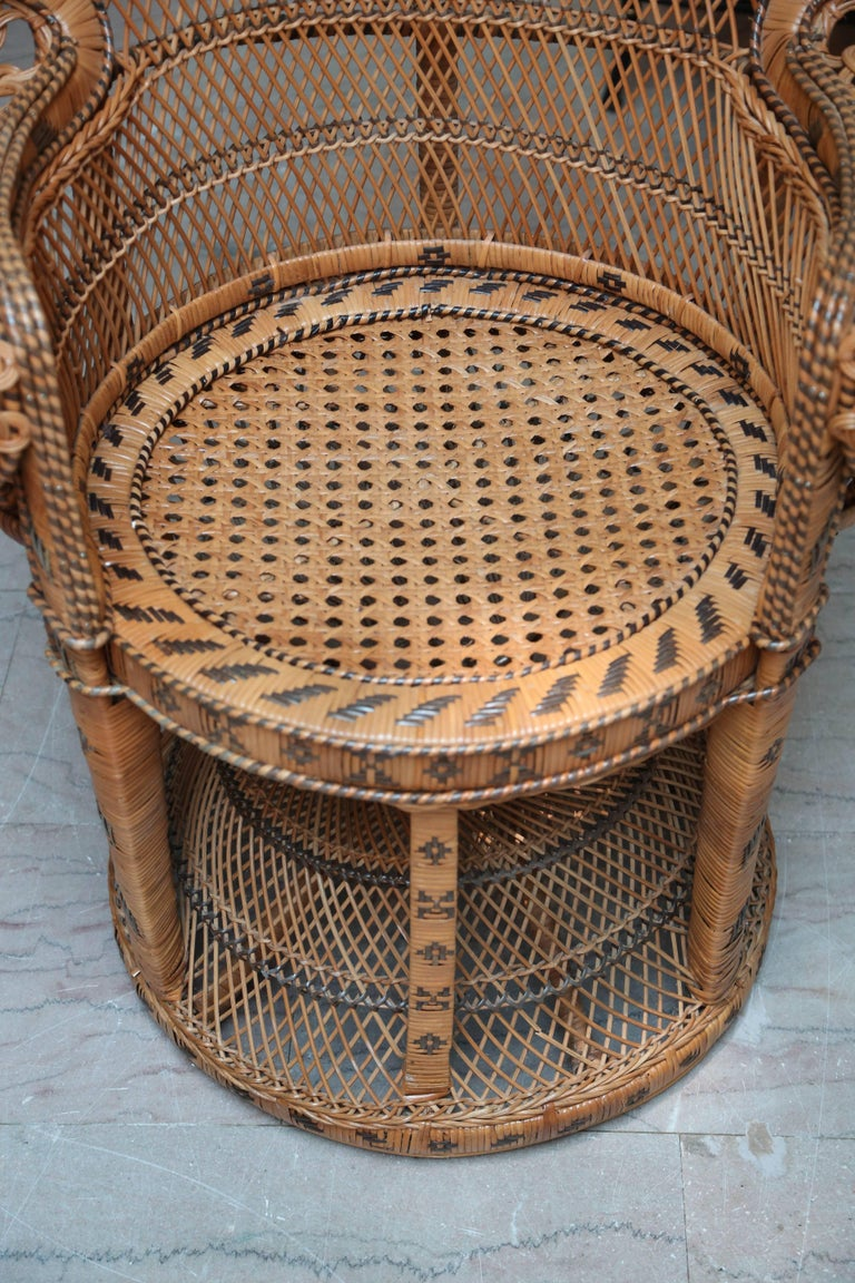 "Hand Decorated Mid-Century ""Peacock"" Chair 3"