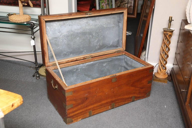 19th Century Campaign Chest In Fair Condition For Sale In West Palm Beach, FL