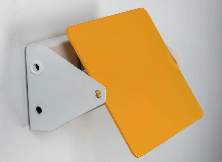French Charlotte Perriand 'Applique Á Volet Pivotant' Wall Lights in Yellow For Sale