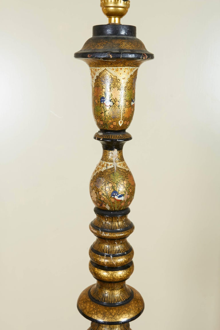 Kashmir papier m ch lamp for sale at 1stdibs for How to make paper mache lamps