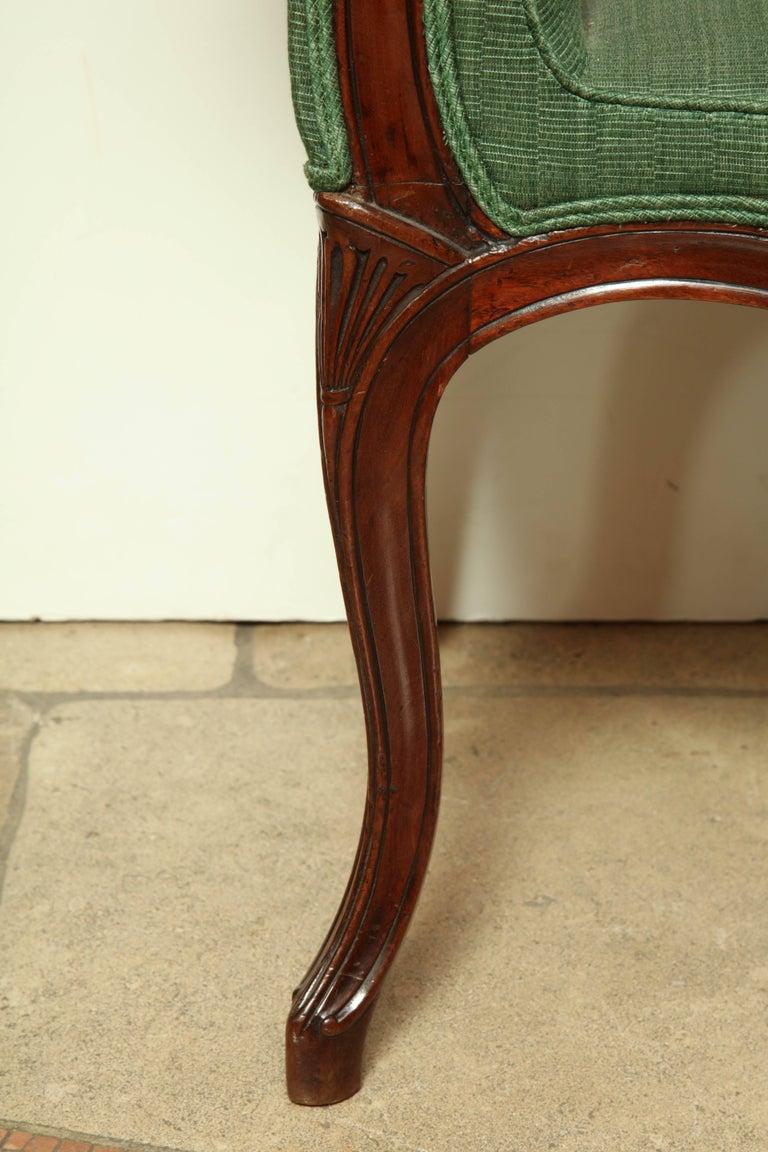 Hepplewhite George III Mahogany Window Bench For Sale