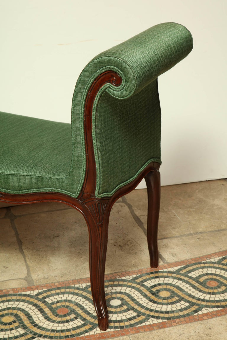 George III Mahogany Window Bench In Excellent Condition For Sale In Port Chester, NY