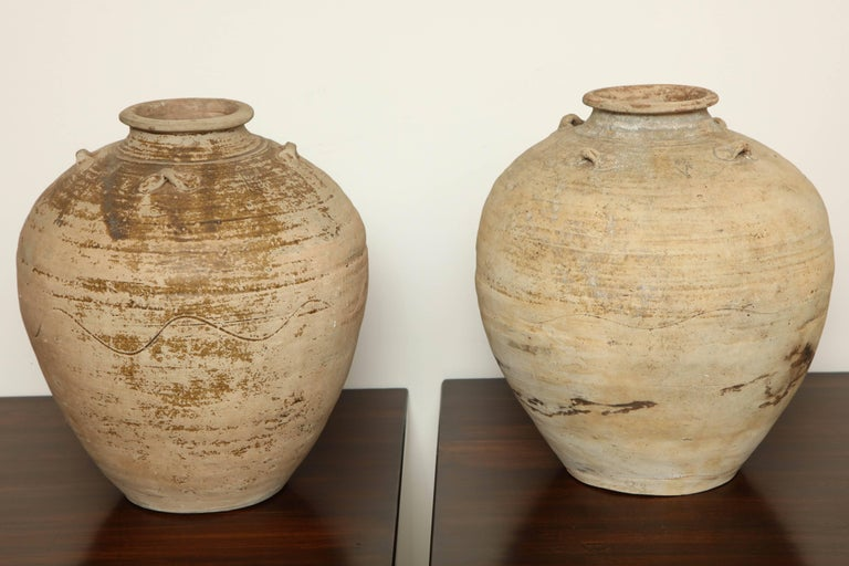 Pair Of Early 20th Century Terracotta Vases Indonesia At 1stdibs