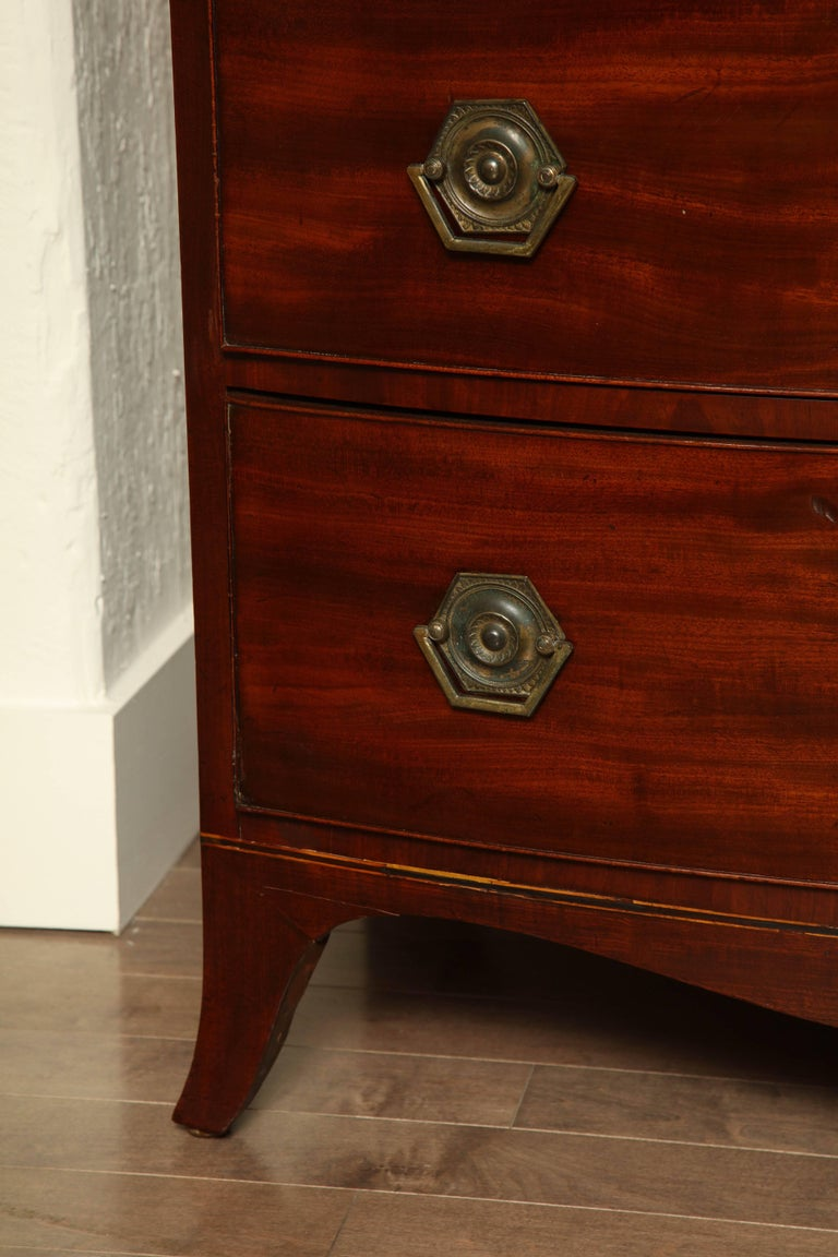 Great Britain (UK) Early 19th Century English Regency Bow Fronted Chest For Sale