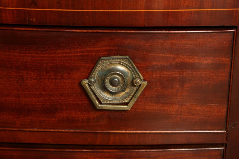 Early 19th Century English Regency Bow Fronted Chest For Sale 3