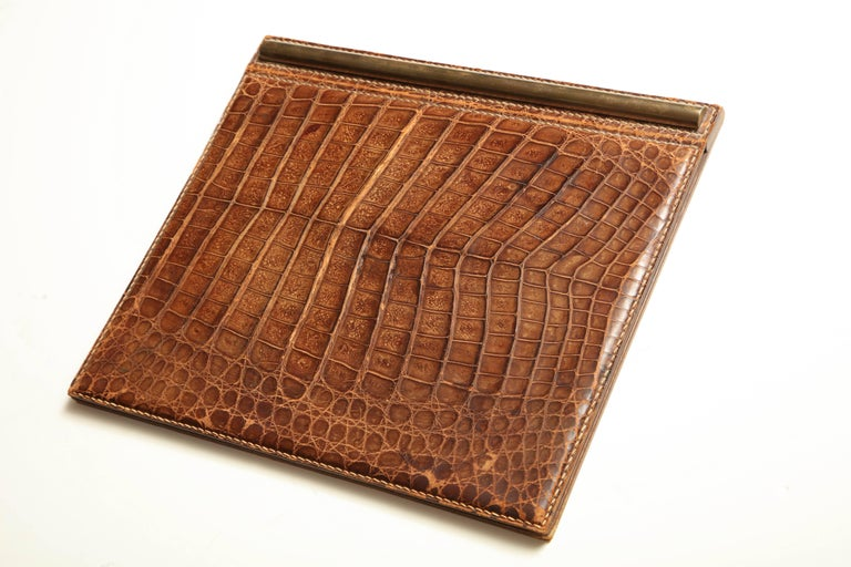 Desk Blotter with Matching Letter Opener in Alligator by Mittaldi B. Aires For Sale 3