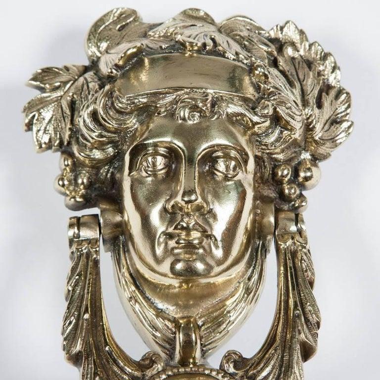 Victorian Brass Door Knocker Depicting Pomona 2