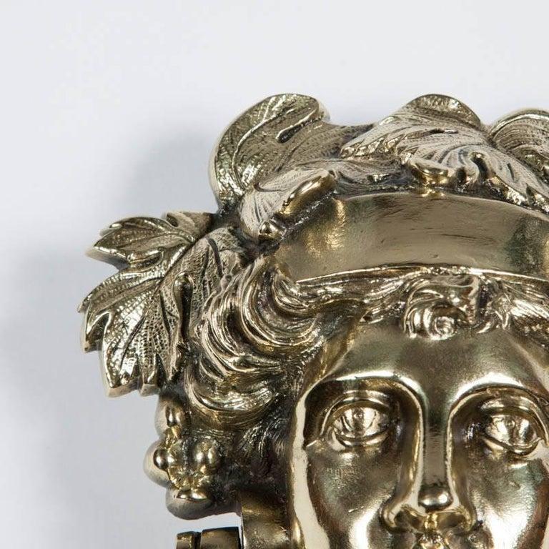 Victorian Brass Door Knocker Depicting Pomona 3