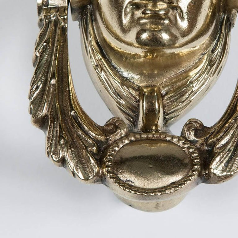 Victorian Brass Door Knocker Depicting Pomona In Good Condition For Sale In London, GB