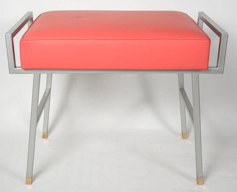 Mid-20th Century Pair of 1960s Stools by Maison Arlus For Sale