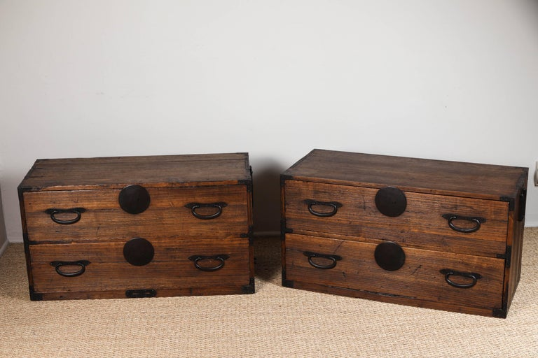 Antique Japanese Two-Piece Tansu 3