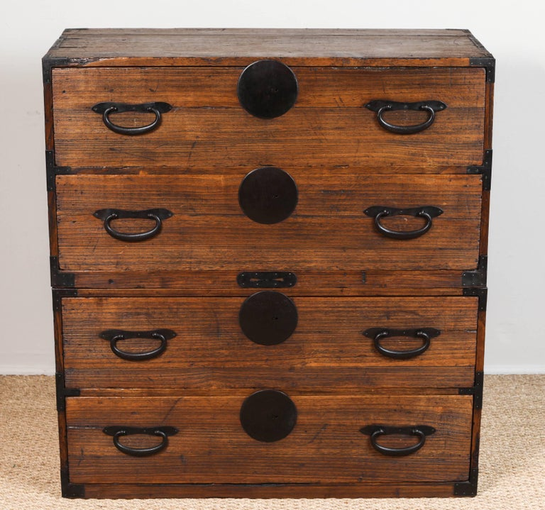 Antique Japanese Two-Piece Tansu 4