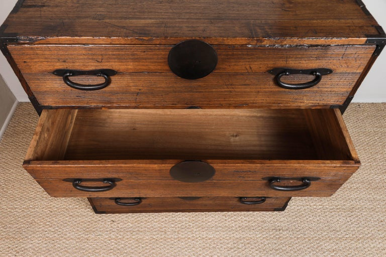 Antique Japanese Two-Piece Tansu 7