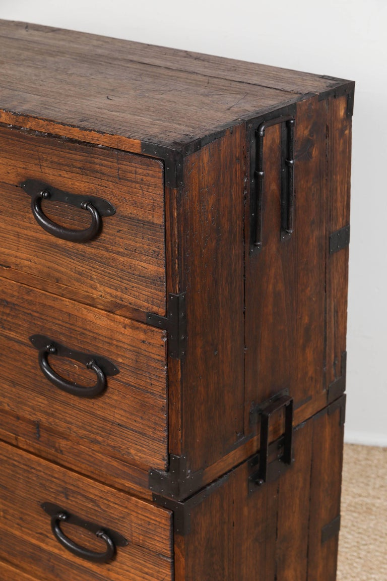 Antique Japanese Two-Piece Tansu 9