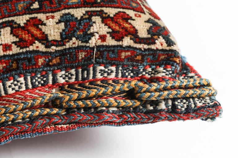 Hand-Knotted  Antique Southwest Persian Saddle Bag Pillow For Sale
