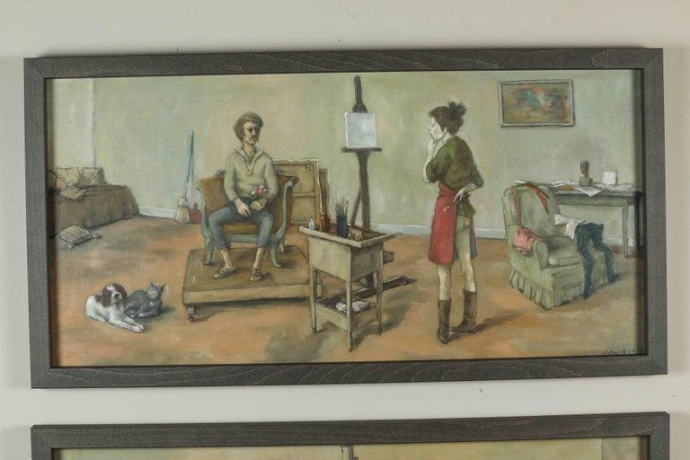 1968 & 1969 Paintings by American Artist, Alexander Brook 2