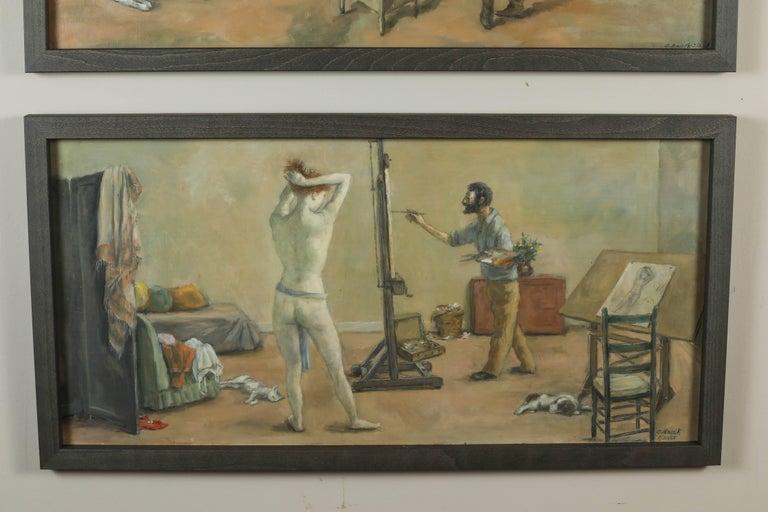 1968 & 1969 Paintings by American Artist, Alexander Brook 3