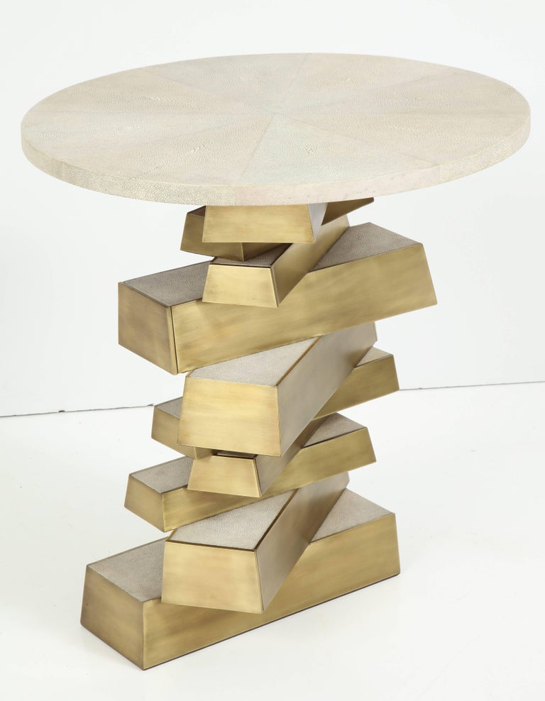 Shagreen and Bronze Side Table, Offered by Area ID 2