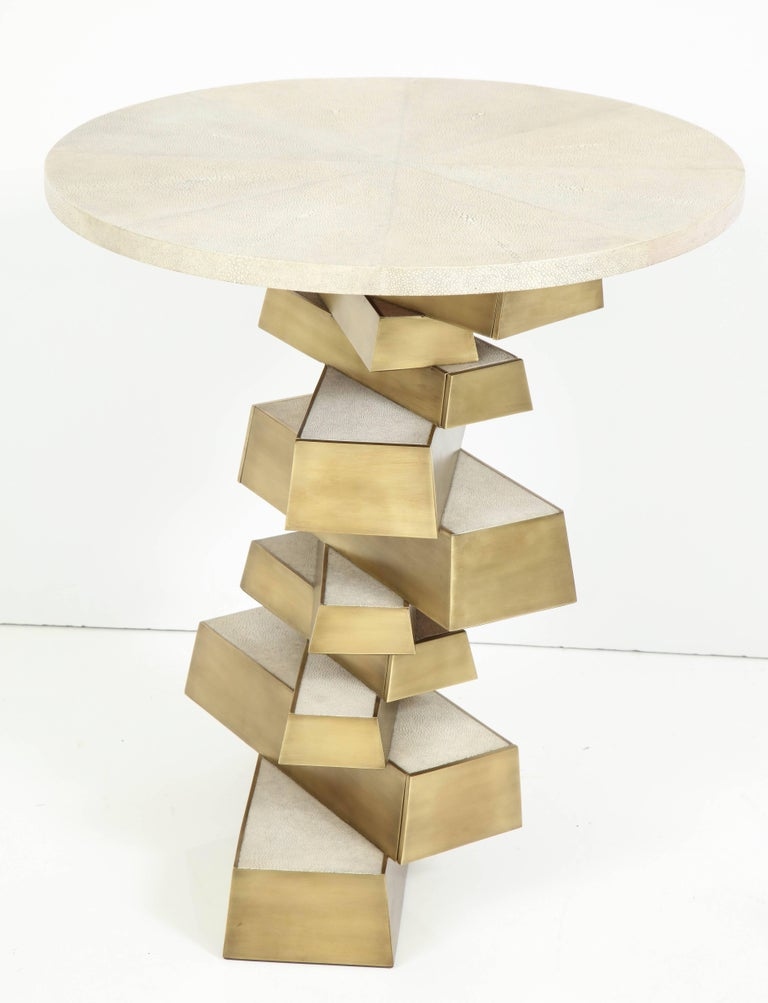 Shagreen and Bronze Side Table, Offered by Area ID 3