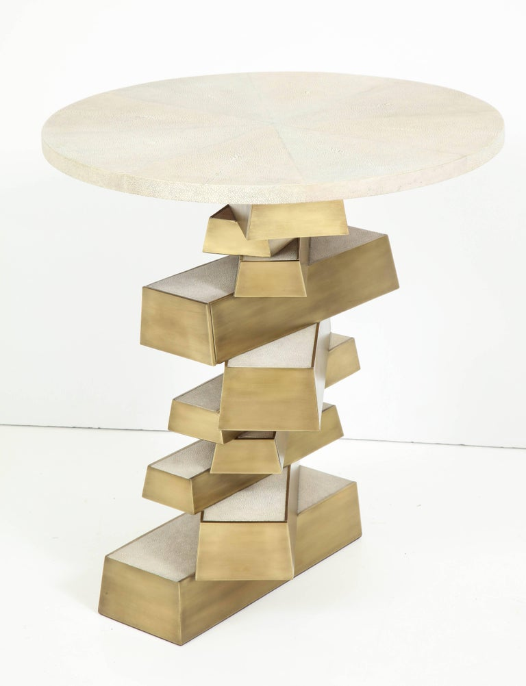 Shagreen and Bronze Side Table, Offered by Area ID 4