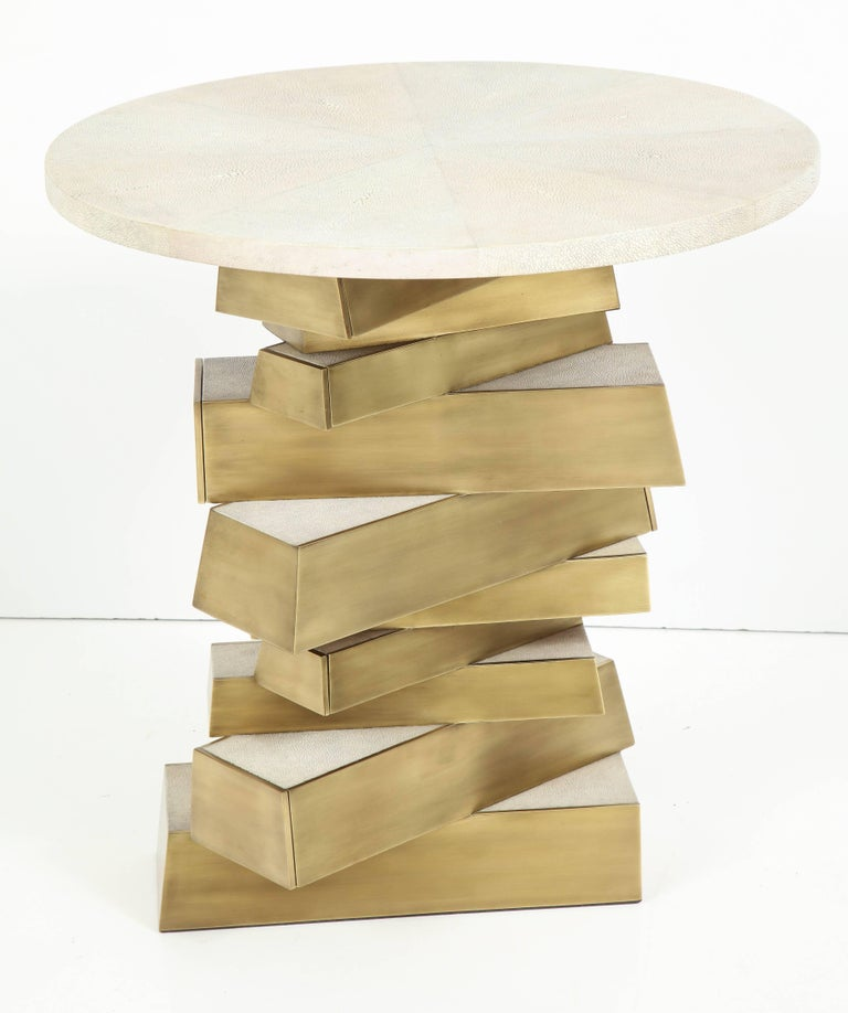 Shagreen and Bronze Side Table, Offered by Area ID 5