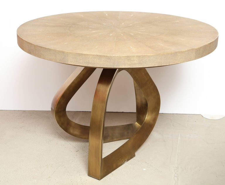 Shagreen Dining Room Table with Bronze Base Offered by  : 6R1A0522master from www.1stdibs.com size 768 x 630 jpeg 48kB