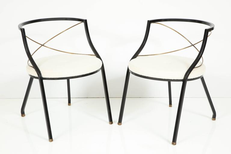 French Maison Jansen Style Side Chairs For Sale