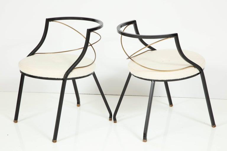 Enameled Maison Jansen Style Side Chairs For Sale
