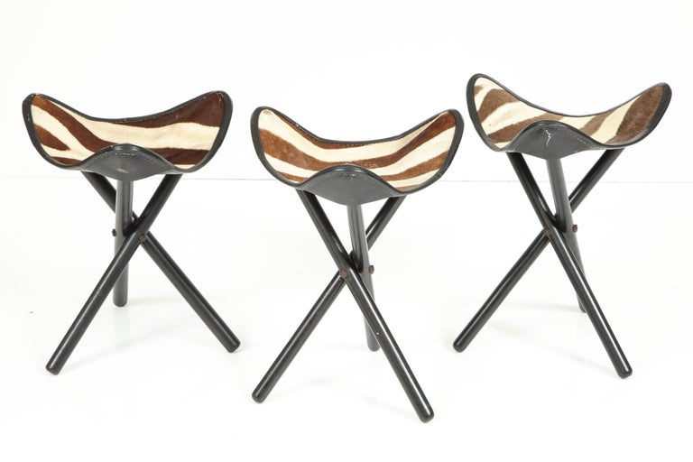 Zimmerman of Nairobi Zebra Campaign Stools For Sale 1