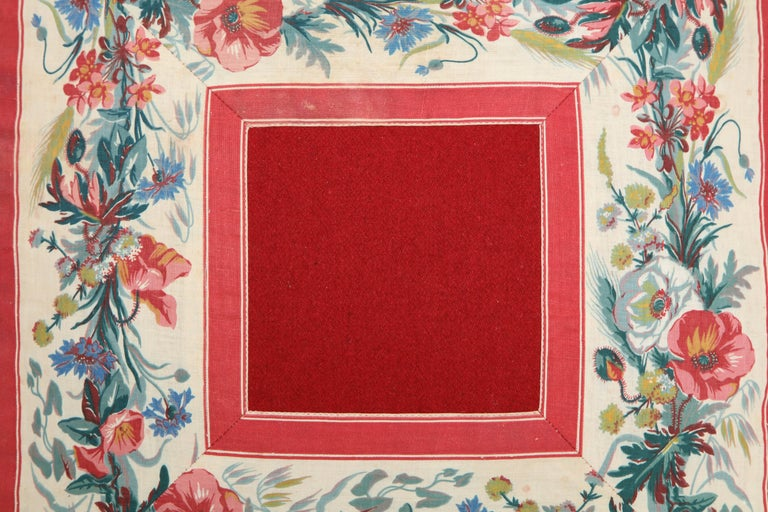 American Classical Vintage Floral Trim Pillow For Sale