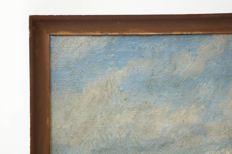 20th Century Large Seascape Painting For Sale