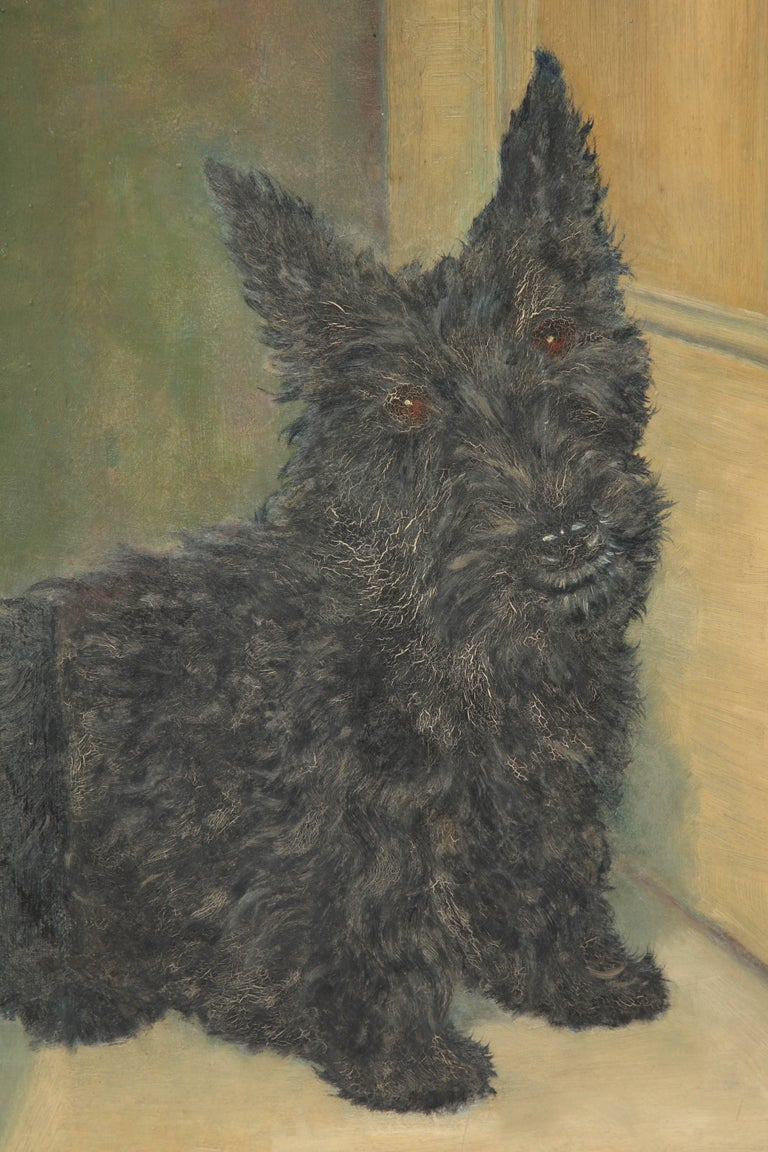 American Classical Scottie Painting For Sale