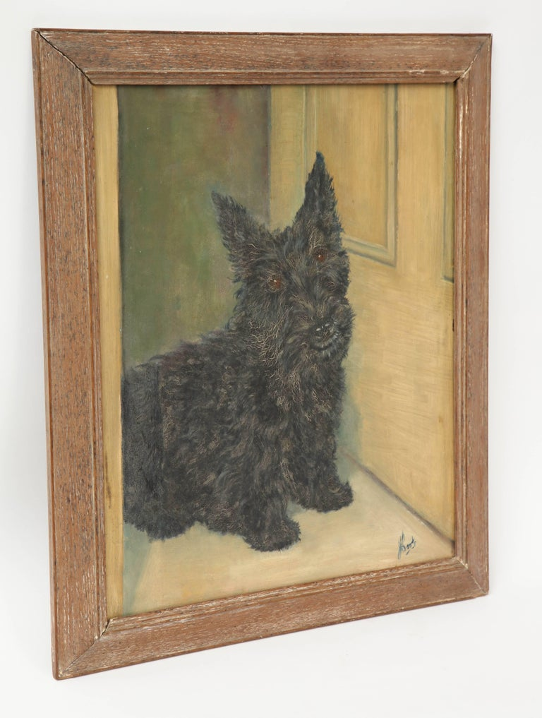 20th Century Scottie Painting For Sale