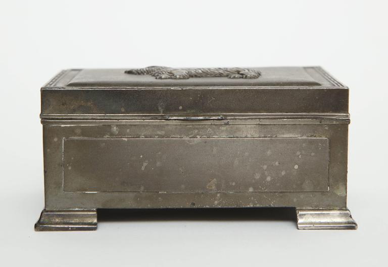 20th Century Scottie Brass Box For Sale