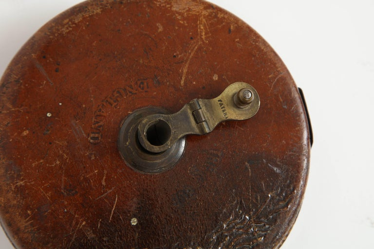Vintage Leather and Brass Tape Measure For Sale 2