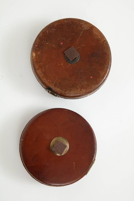 Vintage Leather and Brass Tape Measure For Sale 4