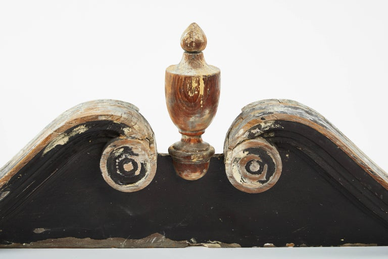 American 19th Century Painted Wood Pediment For Sale