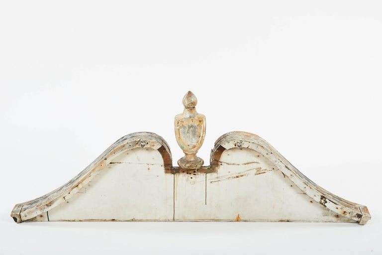 19th Century Painted Wood Pediment For Sale 2