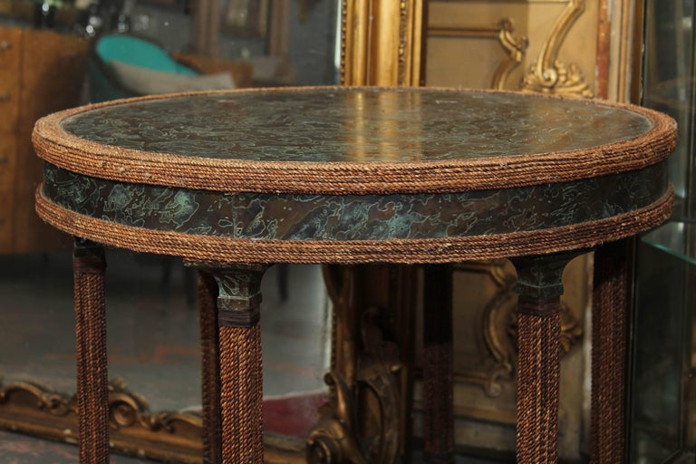 Bronze Clad Entry or Centre Table In Good Condition For Sale In Seattle, WA