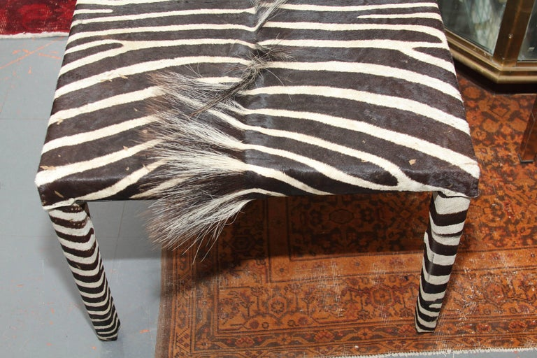 20th Century Long Zebra Mid-Century Modern Table or Bench For Sale