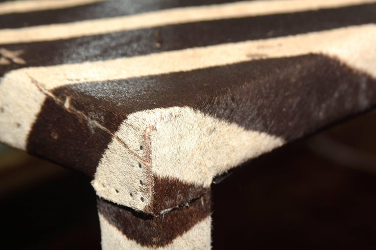 Long Zebra Mid-Century Modern Table or Bench For Sale 2