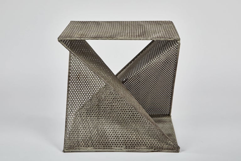 20th Century Pair of Mathieu Matégot Style Geometric Side Tables For Sale