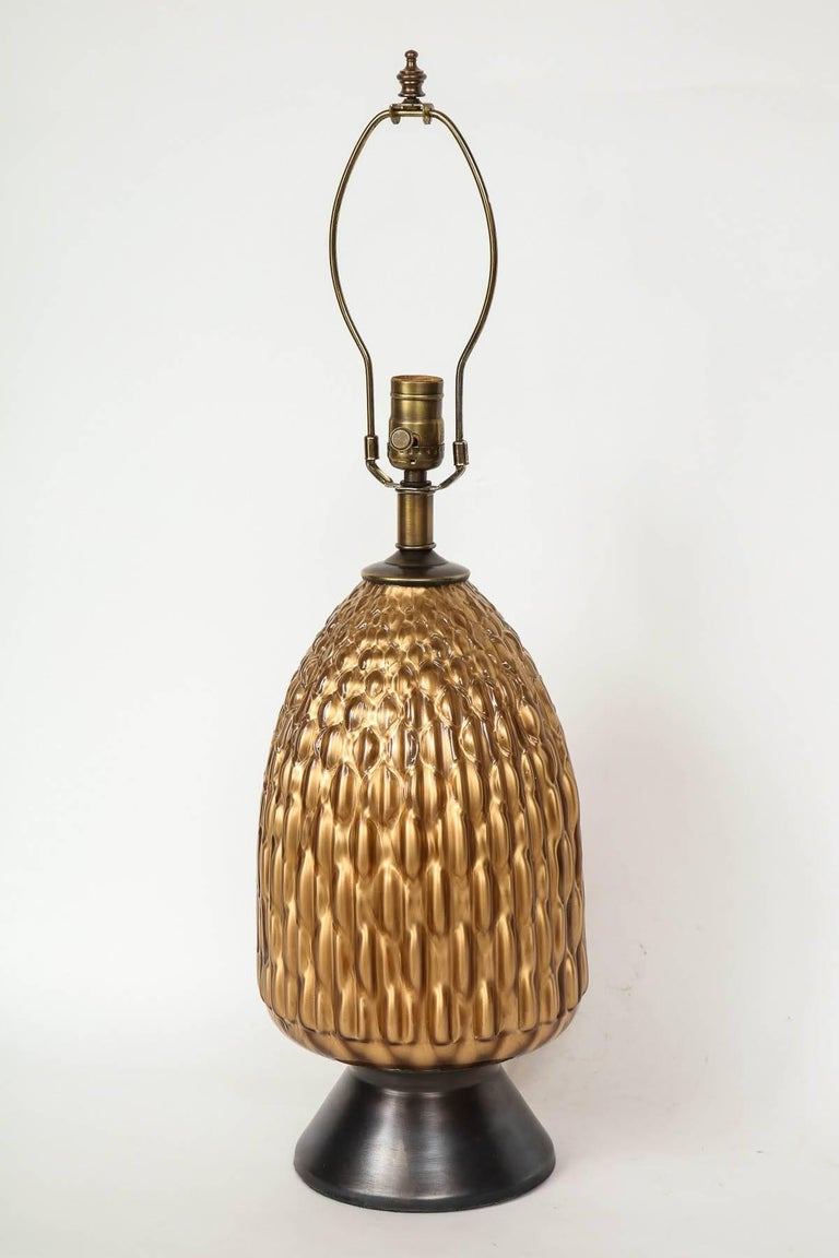 Italian Bronze and Coppered Glass Lamps 2