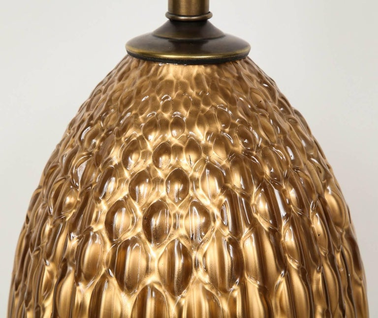 Italian Bronze and Coppered Glass Lamps 6