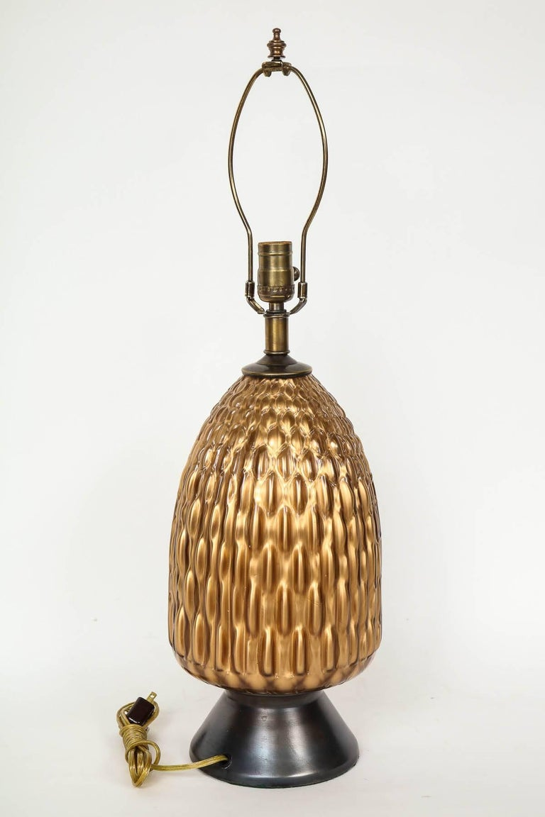 Italian Bronze and Coppered Glass Lamps 7
