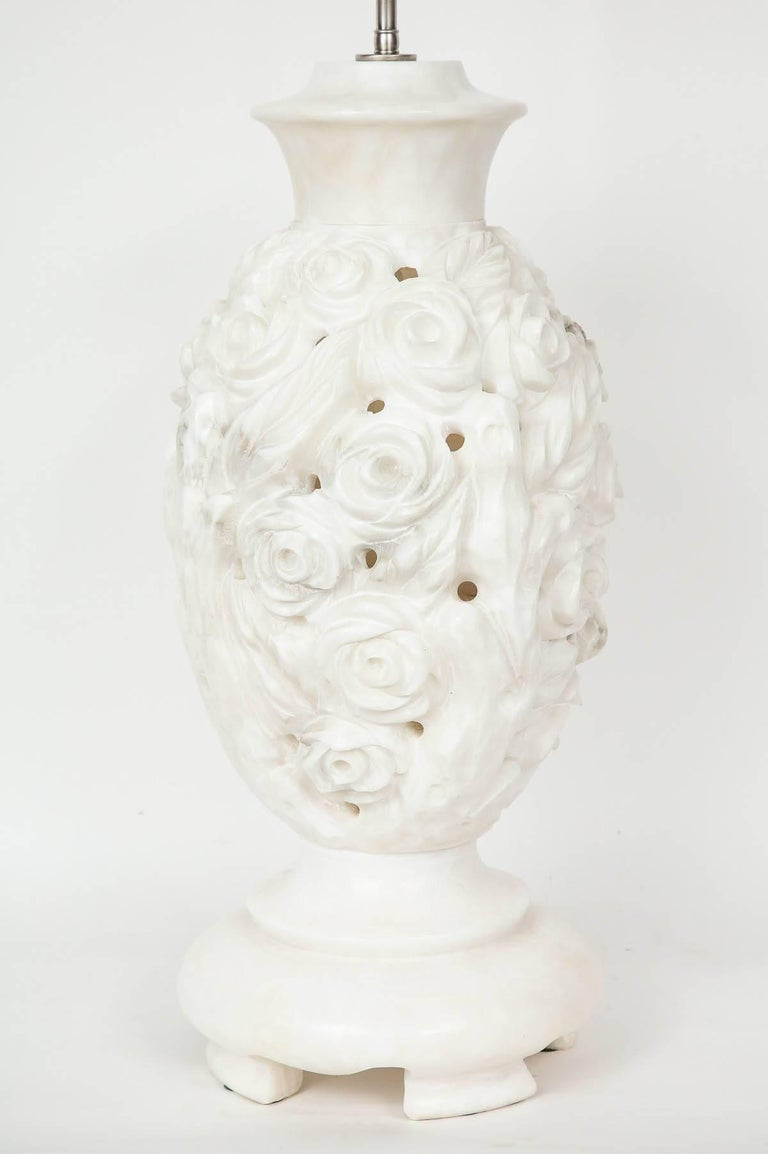 Italian Hand-Carved Marble Lamps 2