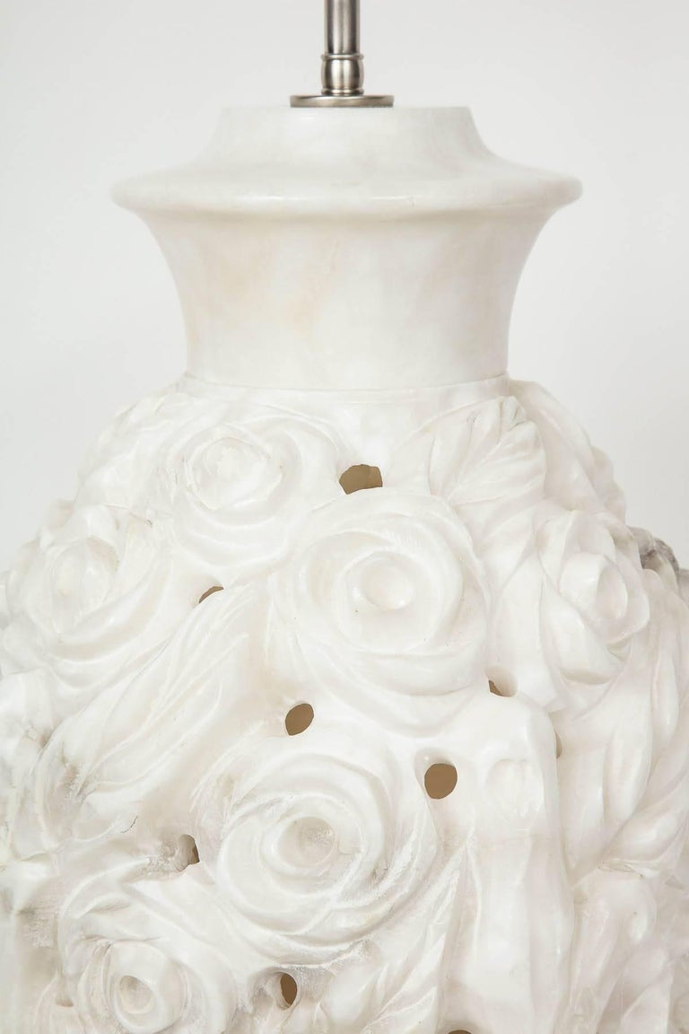 Italian Hand-Carved Marble Lamps 3