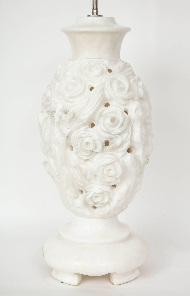Italian Hand-Carved Marble Lamps 5