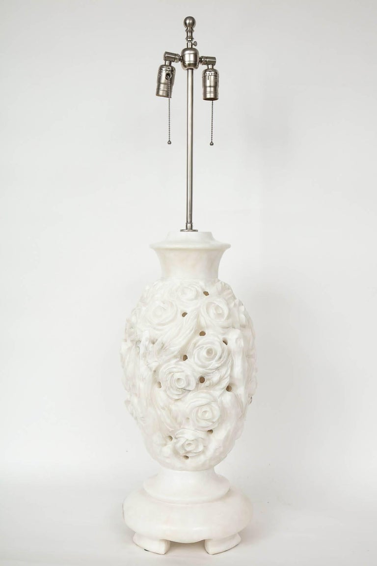 Italian Hand-Carved Marble Lamps 6